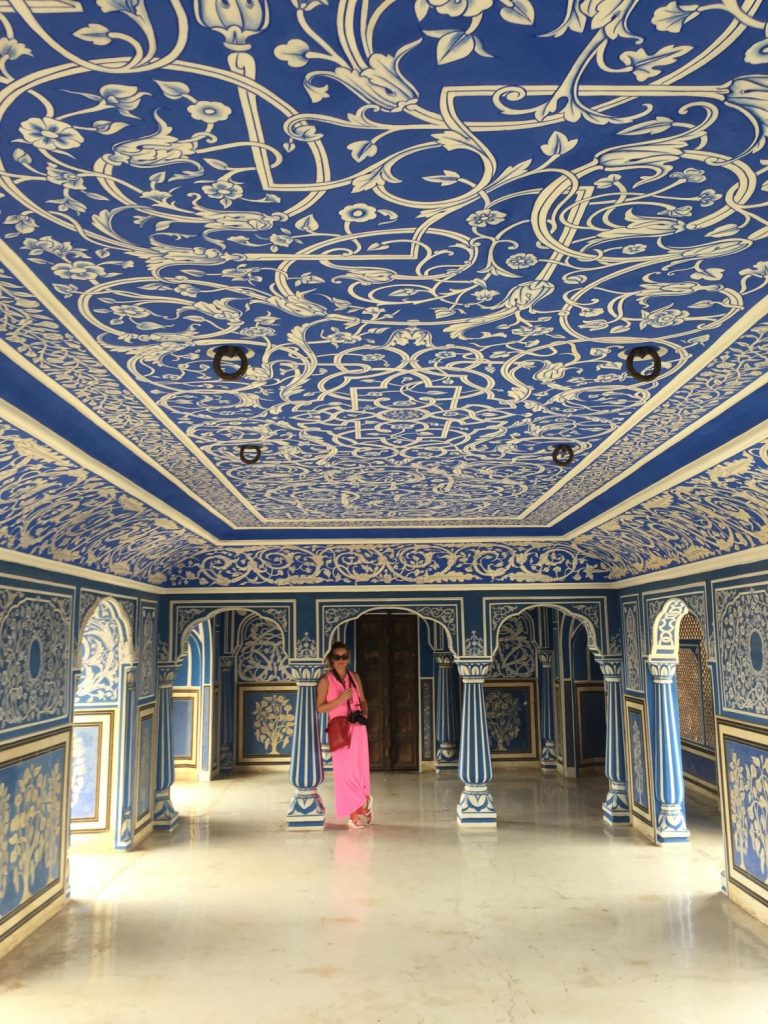 the blue room city palace jaipur