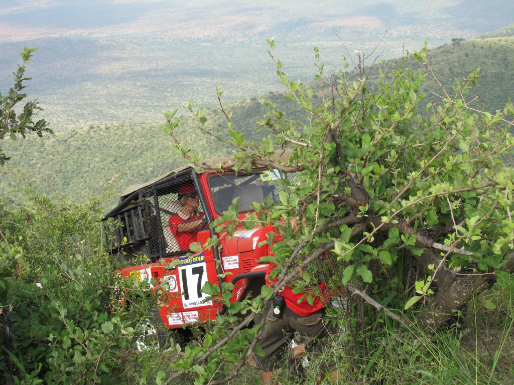Rhino Charge car driving through Kenya