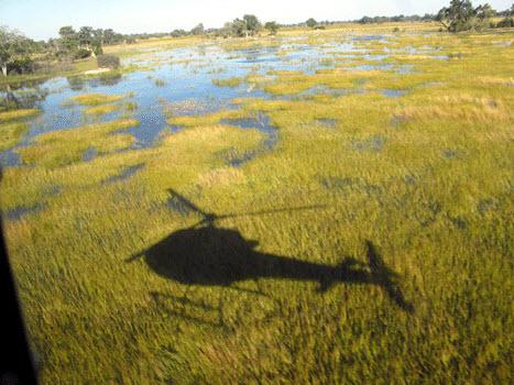 Casting a shadow across the Okavango