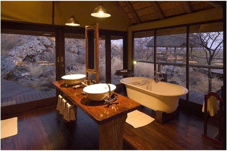 Even the bathroom is breathtaking