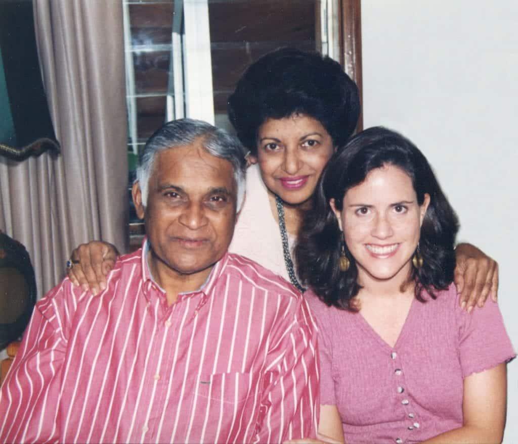 Emily Baldwin with Felix and Jane Pinto