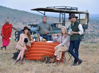 Pinto family on safari