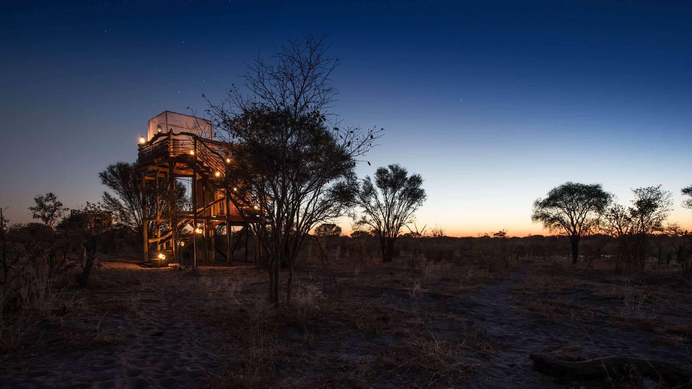 A sunset in Botswana