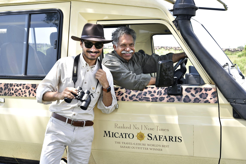 The Pintos in a Micato Safaris car