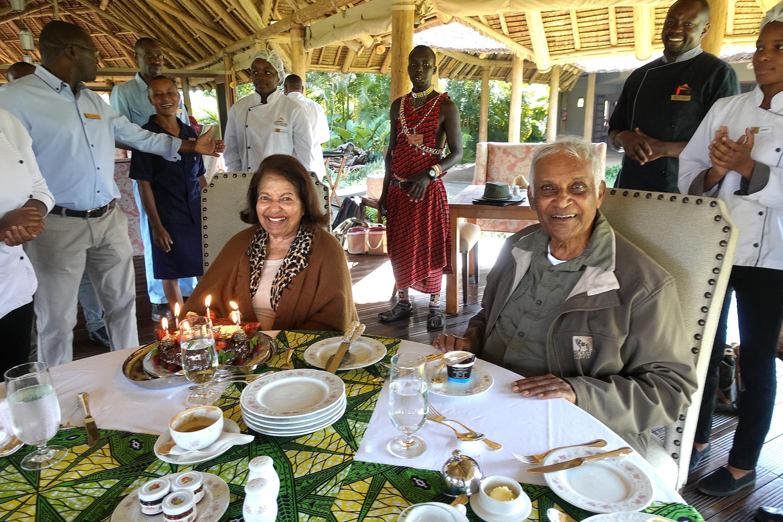 Felix and Jane Pinto enjoy a wedding anniversary