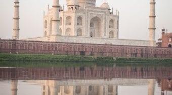 Taj Mahal and reflection