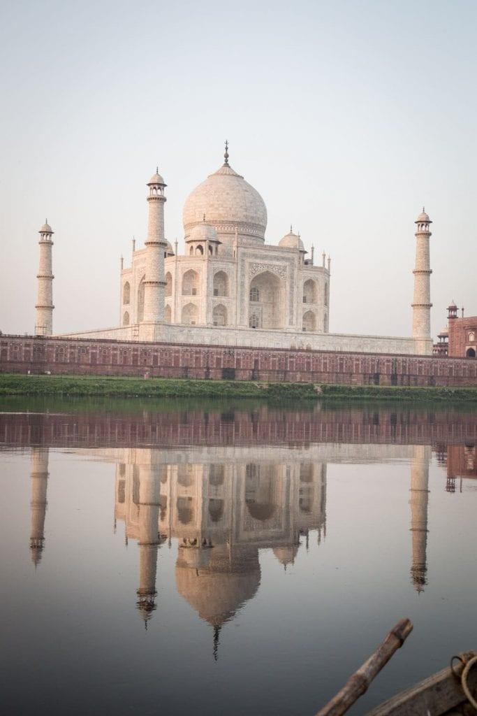 Taj Mahal and its reflection