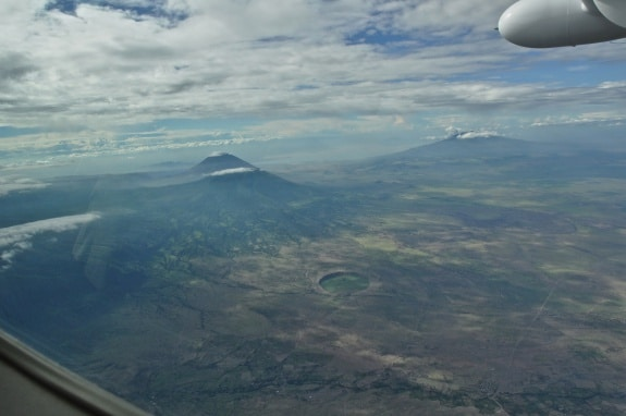 aerial view of Rift Valley from plane