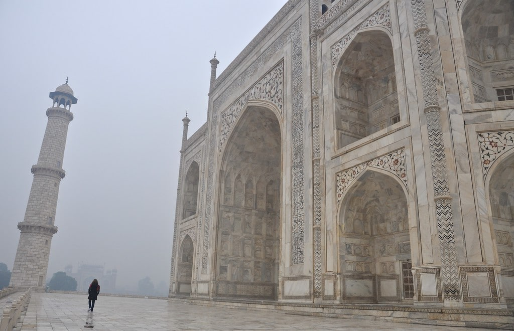 Taj Mahal on gray day