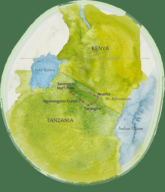 Tanzania Spectacular Map