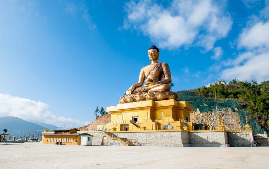 Buddha architecture with beautiful weather