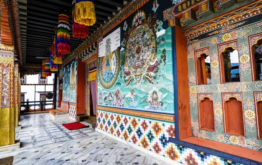 Traditional architecture in the kingdom of Bhutan