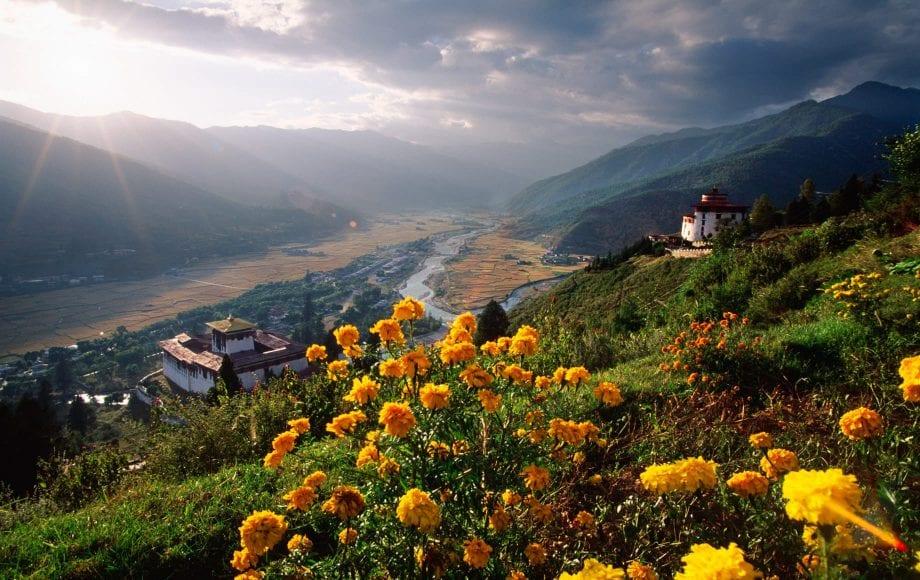Beautiful landscape of the kingdom of Bhutan