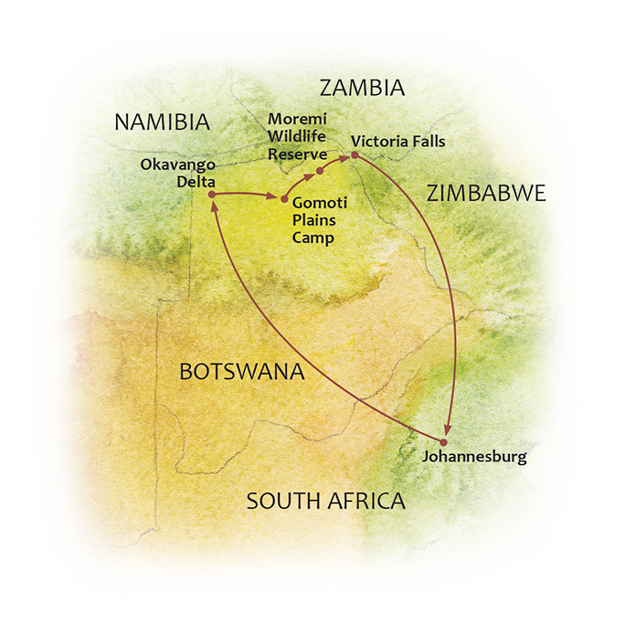 Botswana Timeless Map