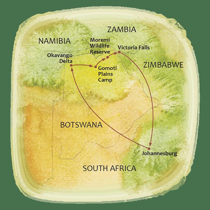 Botswana Timeless Map
