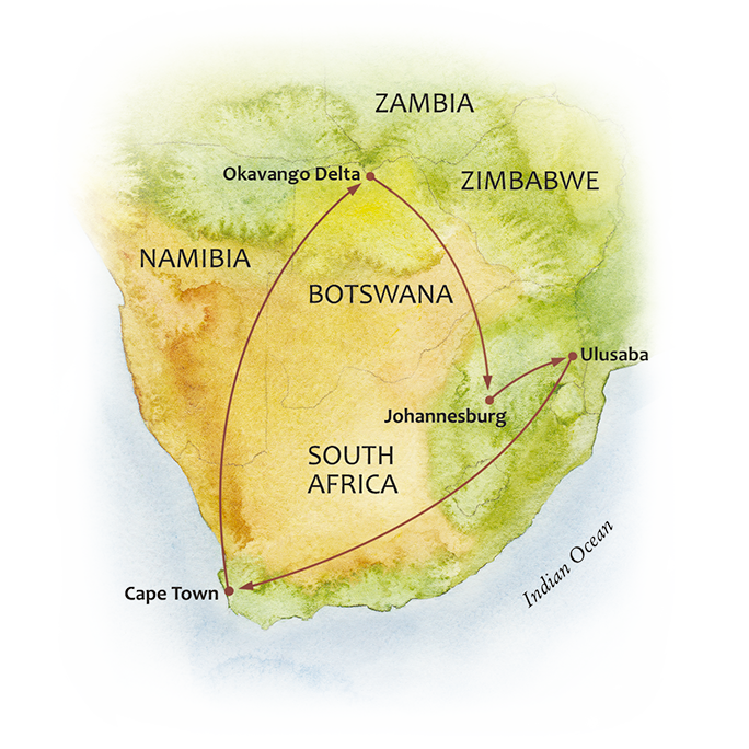 Cape to Delta Map