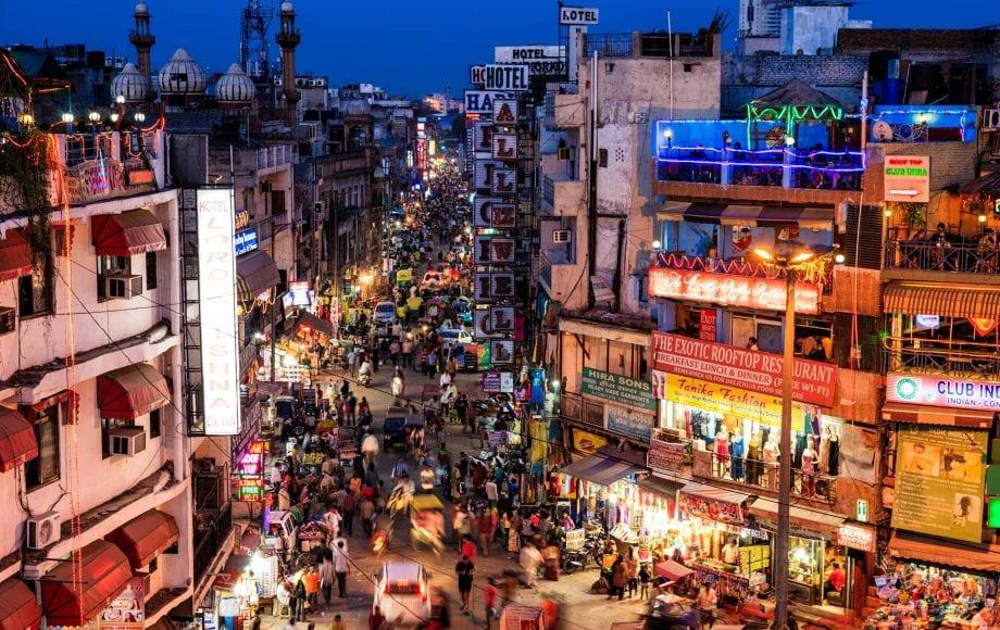 A Busy Street, Old Delhi