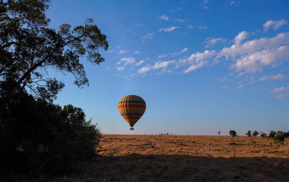 Hot air balloons at Fairmont Mount Kenya Safari Club
