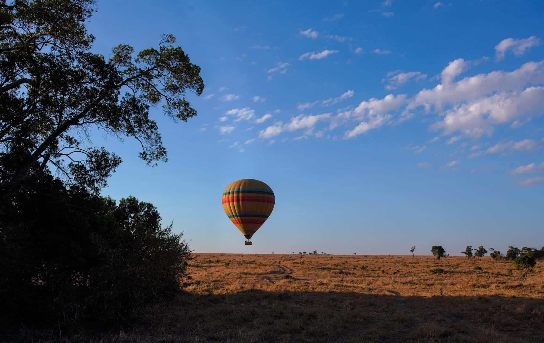 Hot air balloons at Fairmont Mount Kenya Safari Club