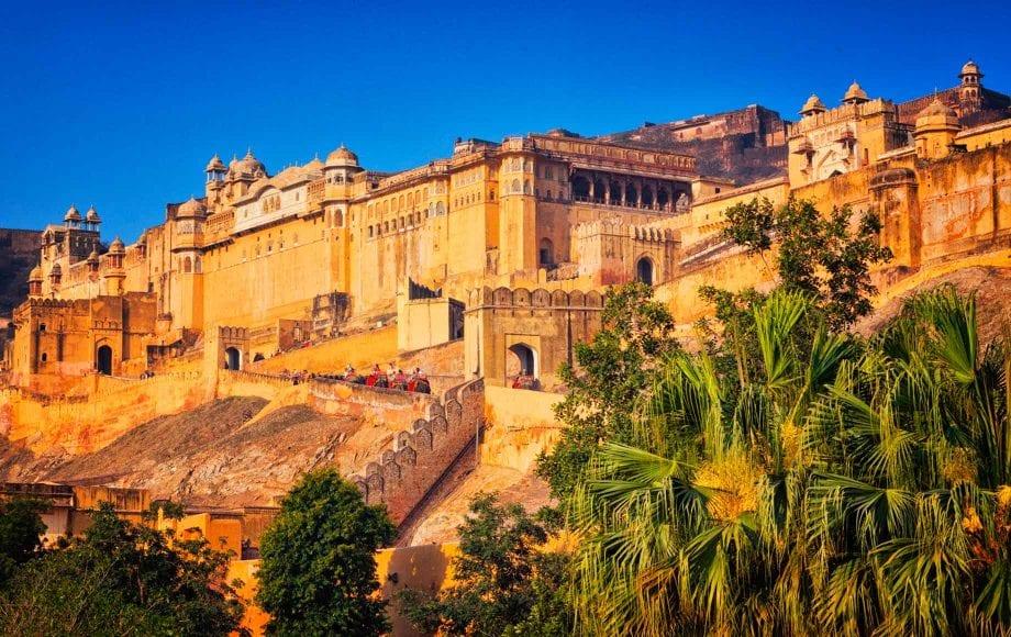 Sun Shining on Beautiful Architecture at Jaipur