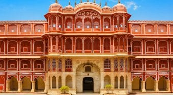 Jaipur Architecture and Bright Sky