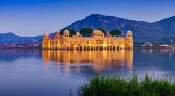 Jaipur Palace in the middle of a lake
