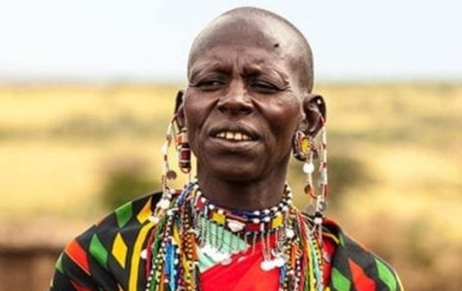 Maasai tribesman in colorful attire