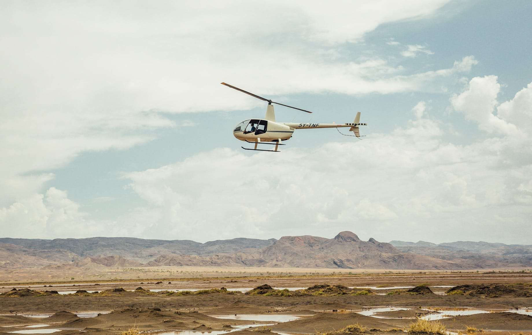 Helicopter ride in the Laikipia Plateau