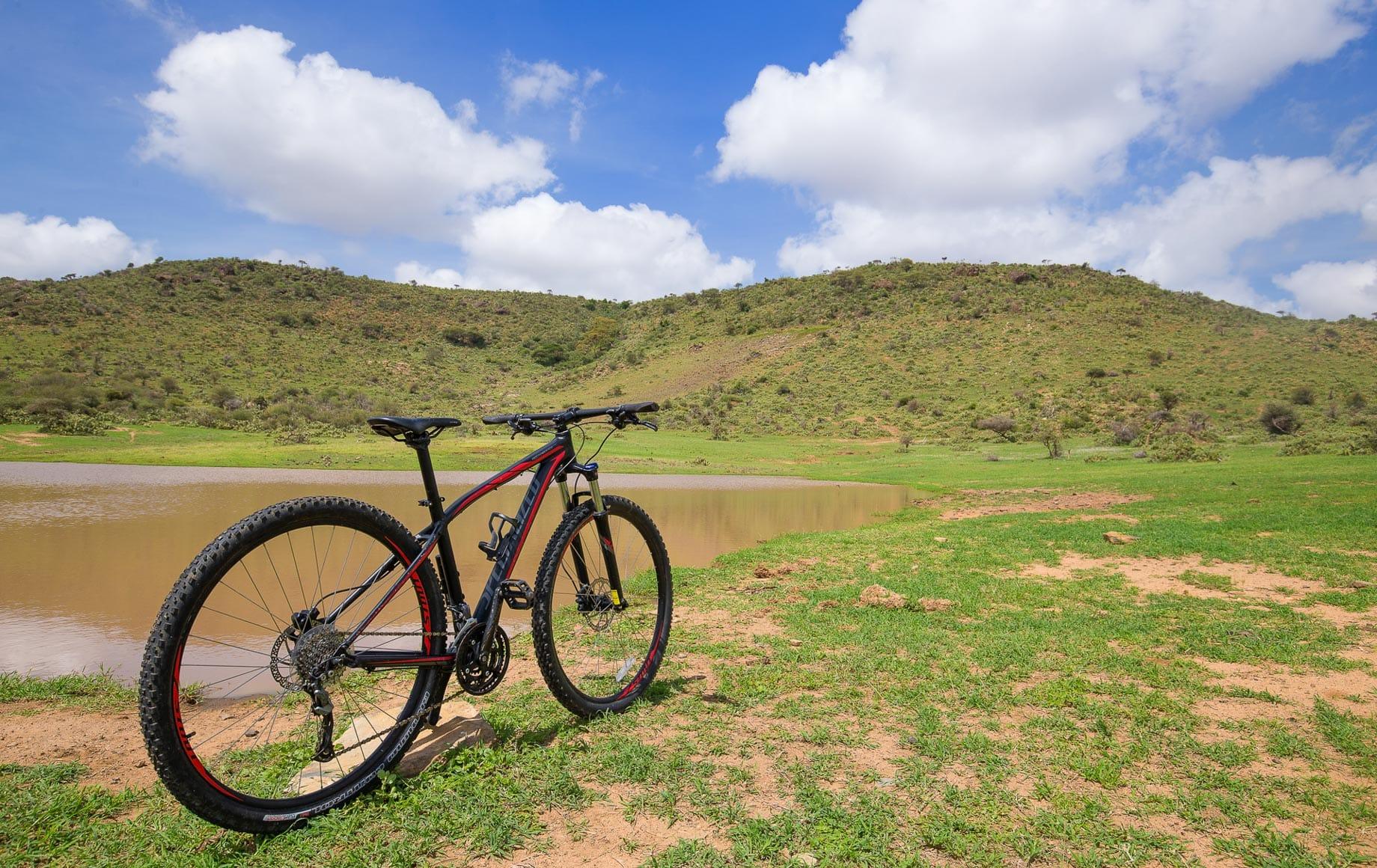 Bike riding in Laikipia Plateau