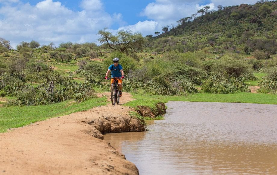 Bike riding in Serene Laikipia Plateau