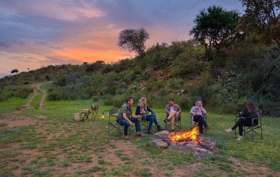 Campfire in Laikipia Plateau