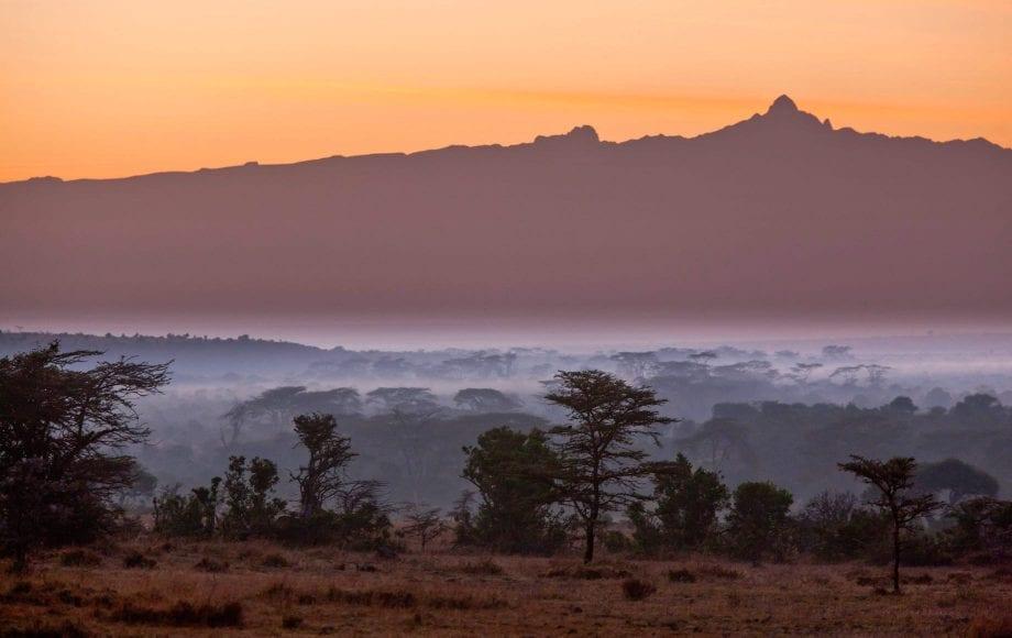 Peaceful sunset and nature at Laikipia Plateau