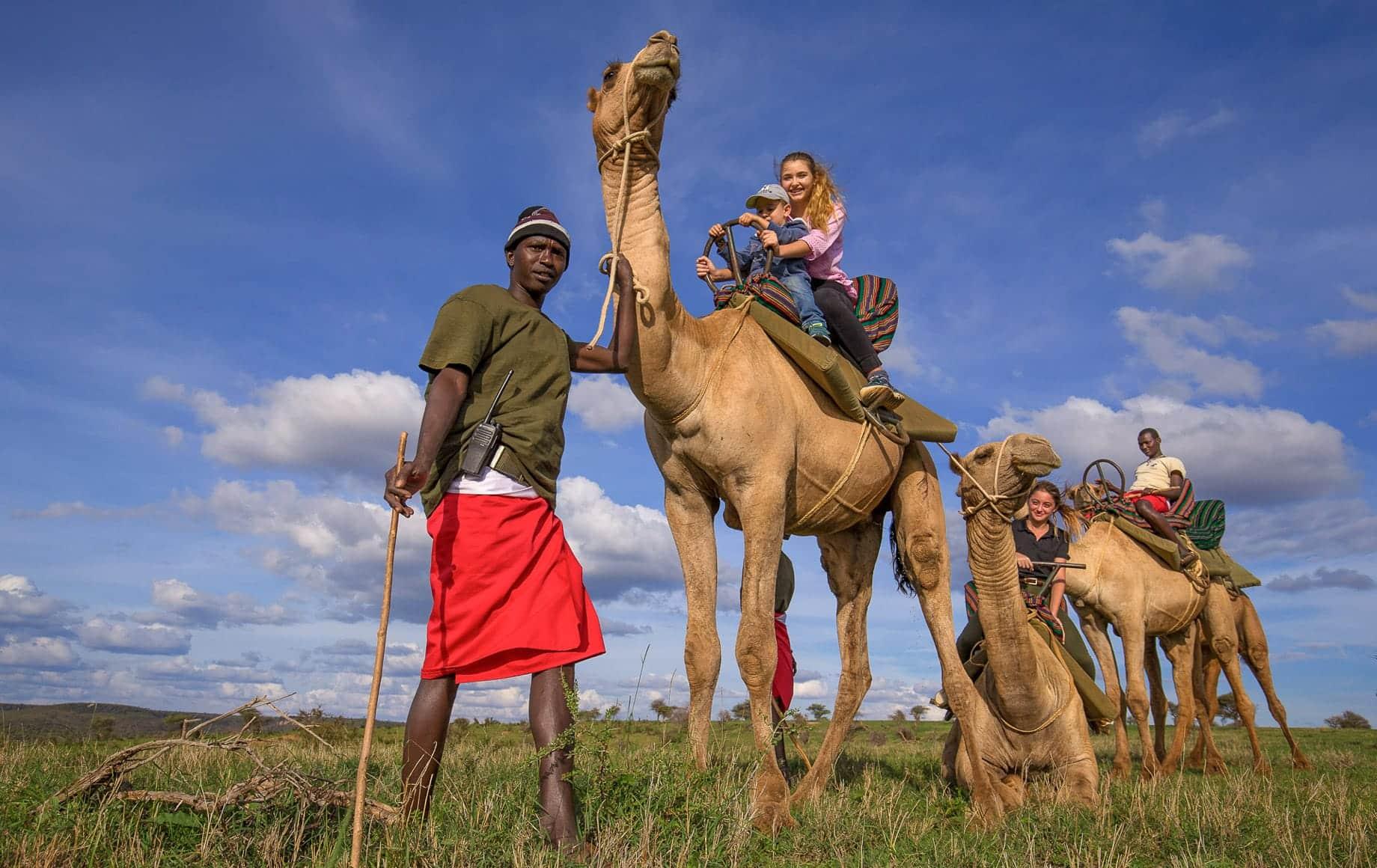 Laikipia Plateau Safari Moments with camelback ride
