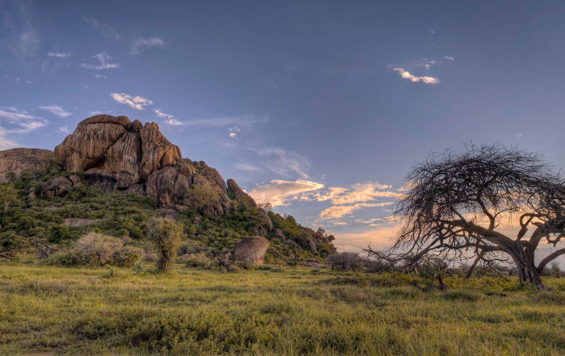 Beautiful Sunset of Laikipia Plateau in African Safari