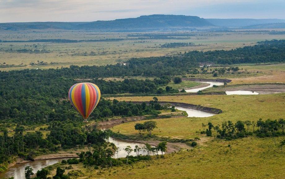 Hot air balloon safari over Masai Mara