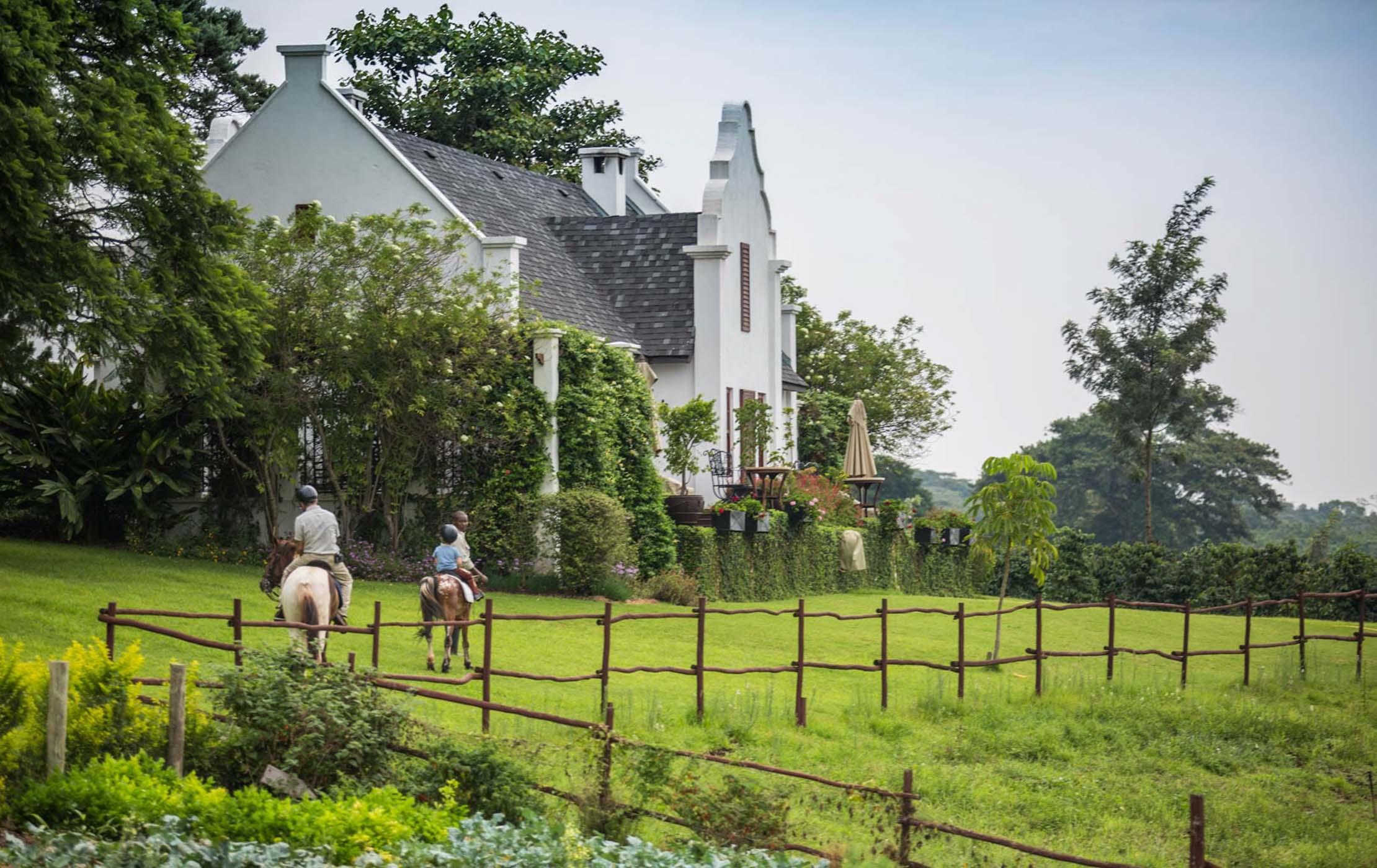 Riding horses at The Manor at Ngorongoro Crater