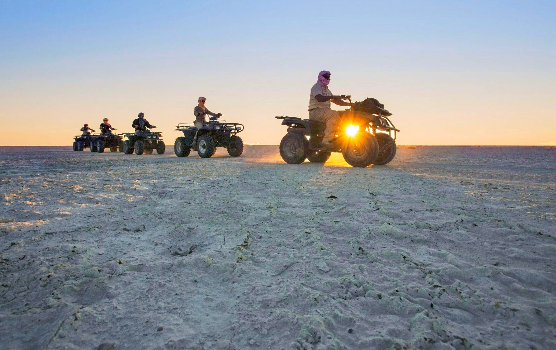Makgadikgadi Pan, This is perfect for quad biking