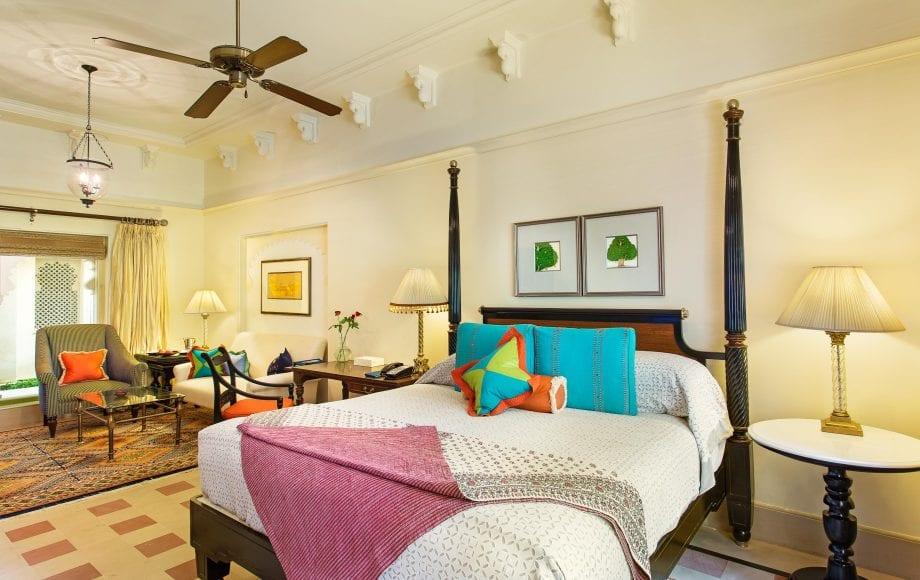 bedroom in the hotel