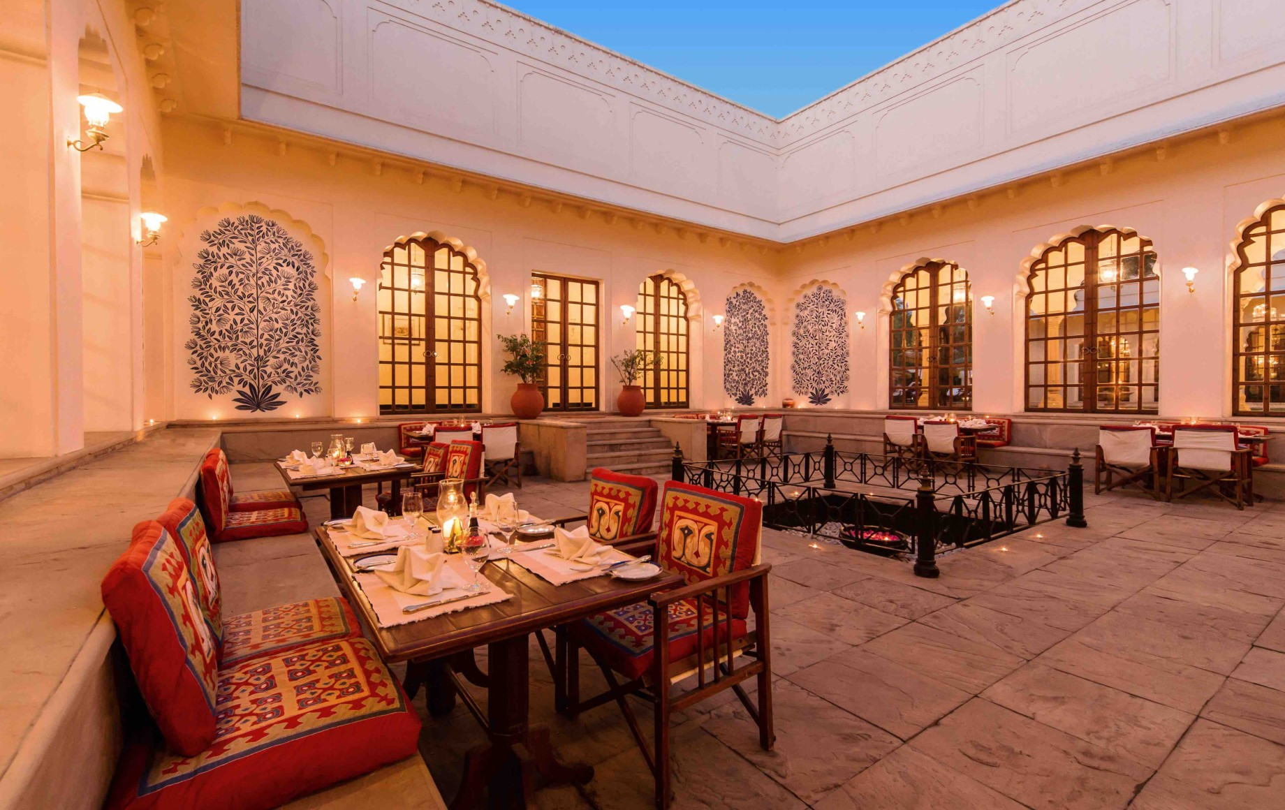 an indian dining room