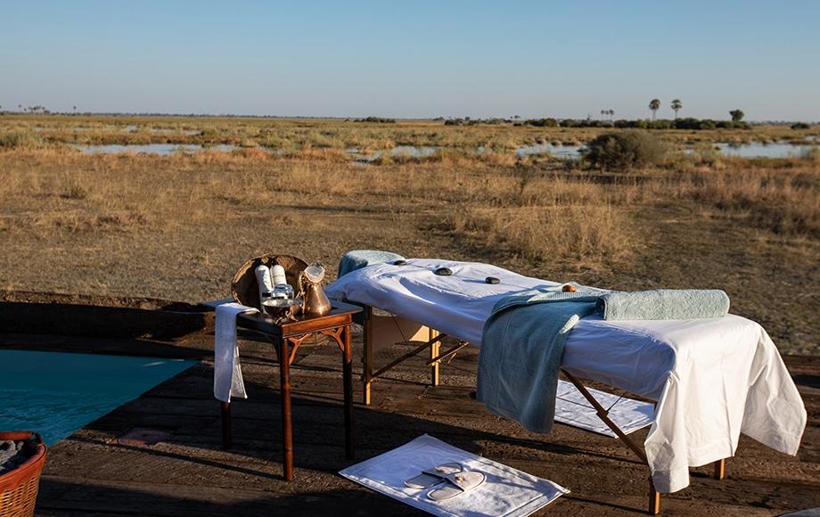 An outdoor spa
