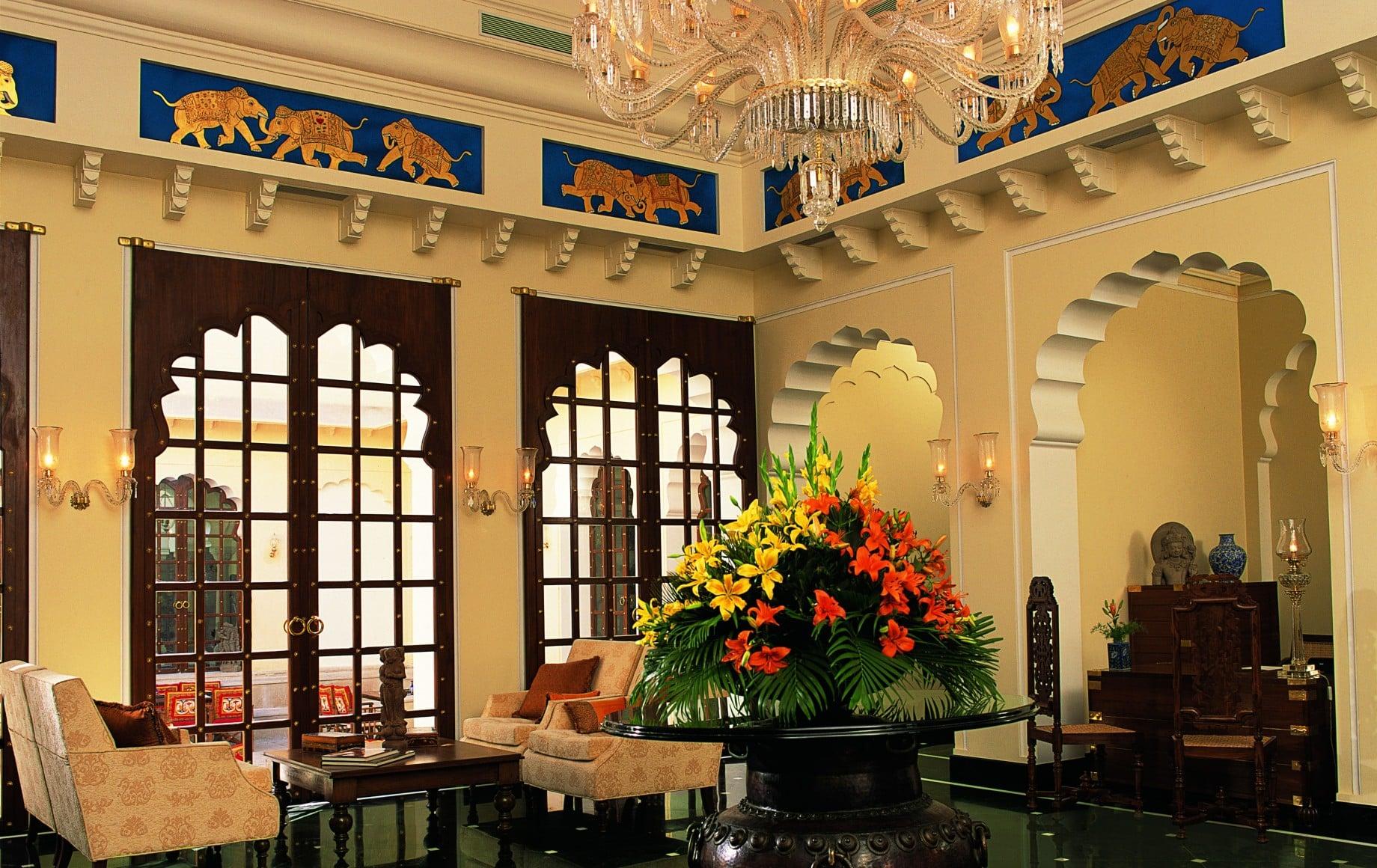 a hotel lobby