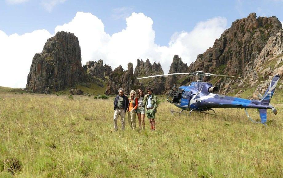 Mount Kenya Helicopter Ride