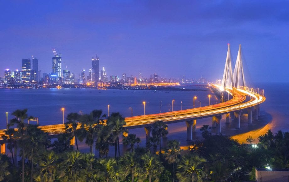 Beautiful City Views and Night Bridge of Mumbai