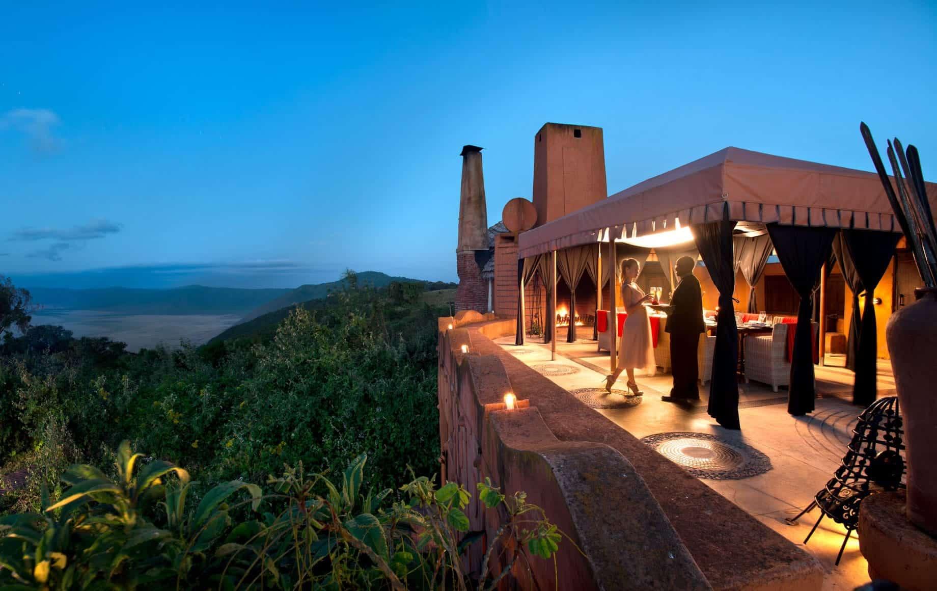 Ngorongoro Crater Lodge couple