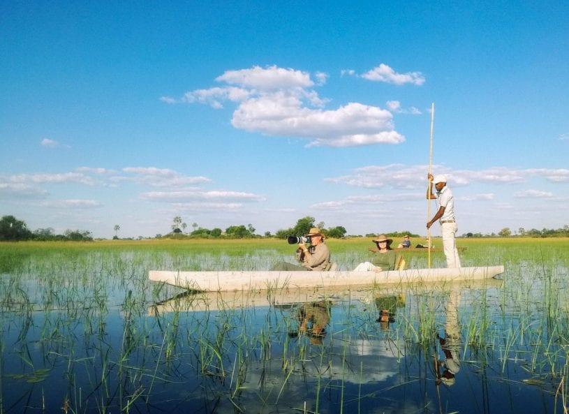 Okavango delta boat tour
