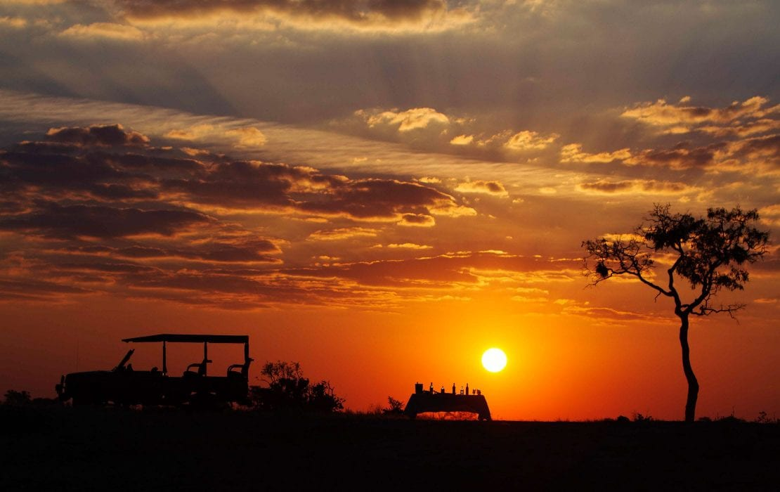 Sunset dinner at Safari Savuti Chobe