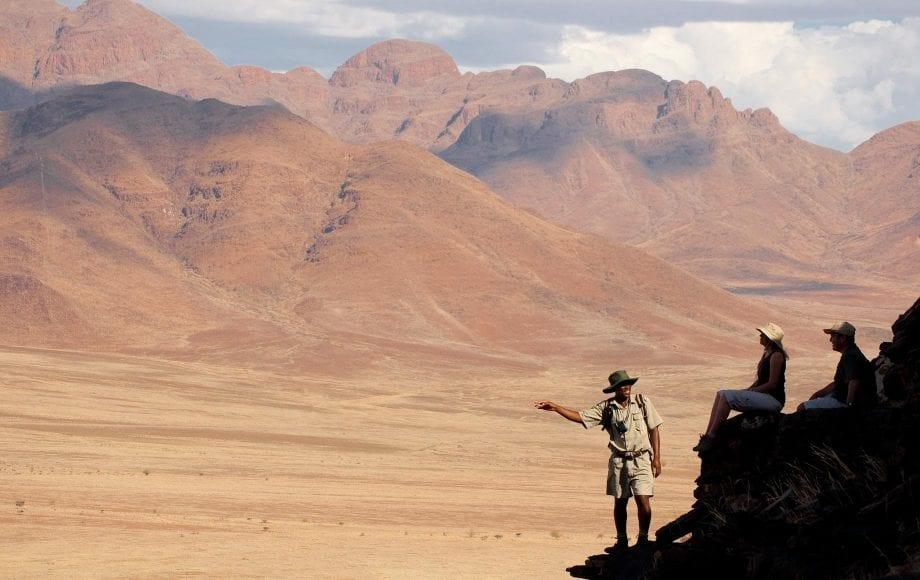 Tourists enjoying their trip at Sossusvlei Namib Desert