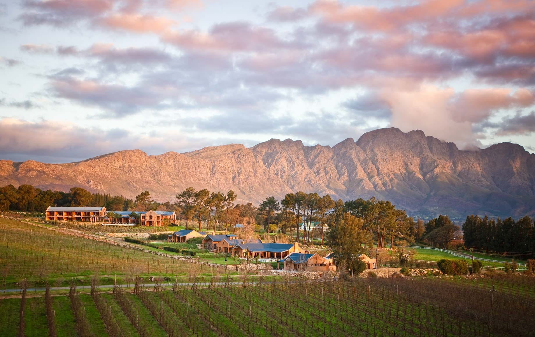 Bang-up views and vaulting rocky hills at Cape Winelands