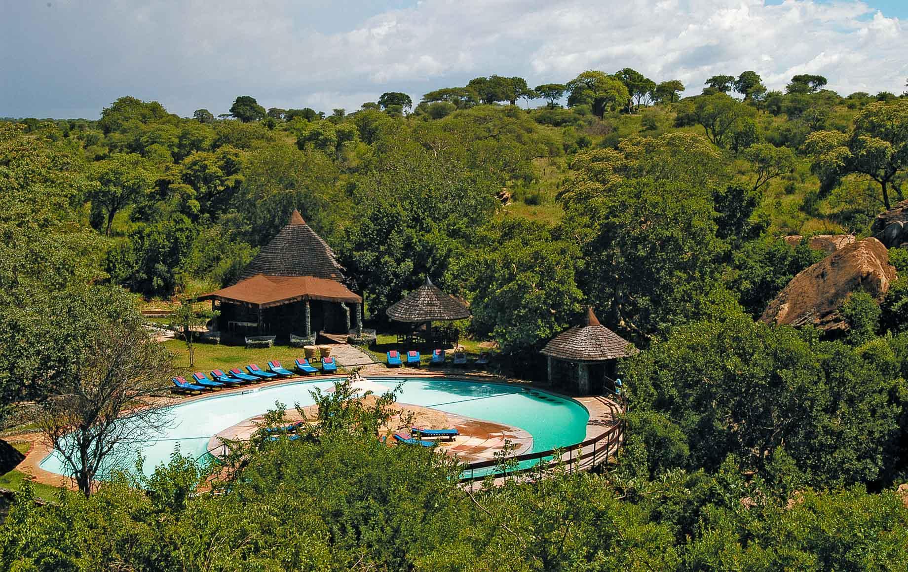 Tarangire Sopa Lodge is located in Tarangire National Park hidden amongst the Kopjes.