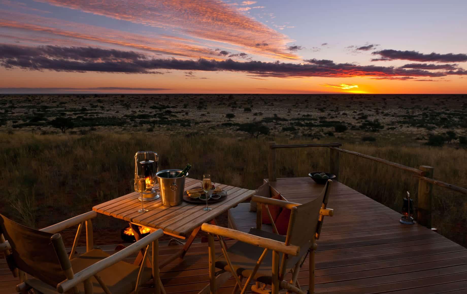 Tswalu Kalahari Reserve Evening View